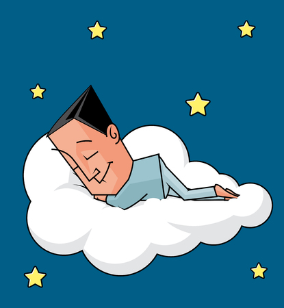 lenght: Man sleeping on a cloud
