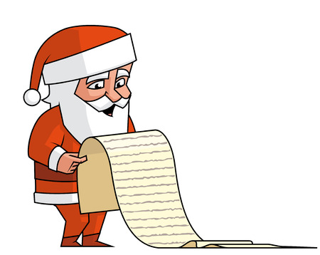 lenght: Santa reading the wish list