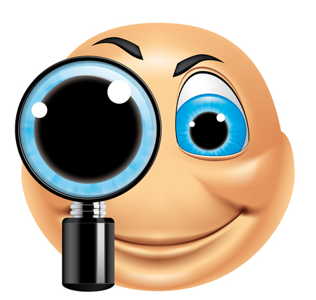 Emoticon searching photo