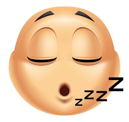 somnolent: Emoticon sleeping Stock Photo