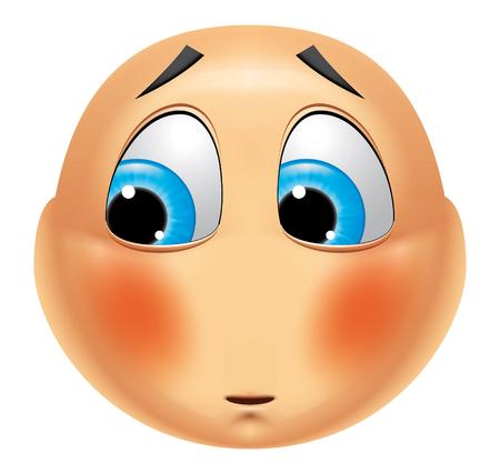 avergonzado: Emoticon avergonzado