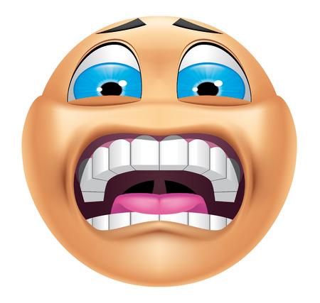 terrified: Emoticon terrified