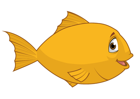 fullbody: Isolated illustration of a Fish