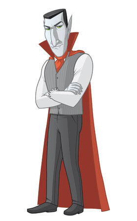 fullbody: Isolated illustration of a vampire Stock Photo