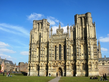 wells: Wells Cathedral Somerset England Editorial