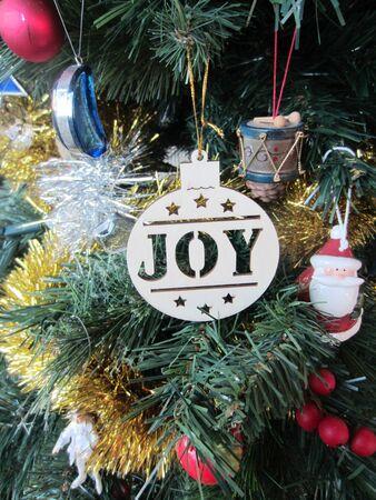 twelfth night: Joy Christmas Tree Decorations
