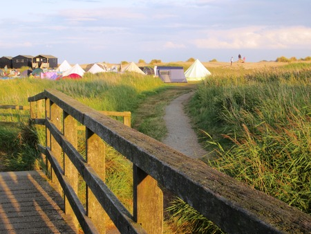 suffolk: Walberswick Beach Crabbing Bridge Summer
