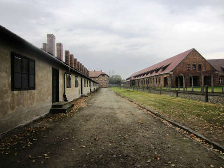 prisoner of war: A view of Auschwitz Concentration Camp Krakow Poland Editorial