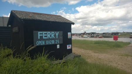 southwold: Taking the Ferry from Walberswick to Southwold, Suffolk, across the river Blyth