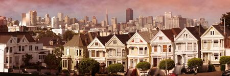 victorian houses at san francisco Stock Photo
