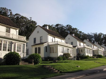 houses in residential area at San Francisco