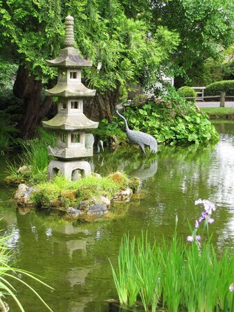 woodland sculpture: japanese garden in the middle of San Francisco Stock Photo