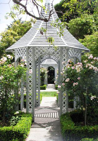 wedding chapel and garden for cerimony Stock Photo