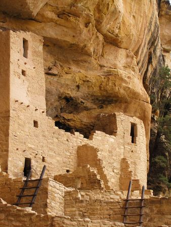 kiva: Cliff Palace at Mesa verde national park      Stock Photo