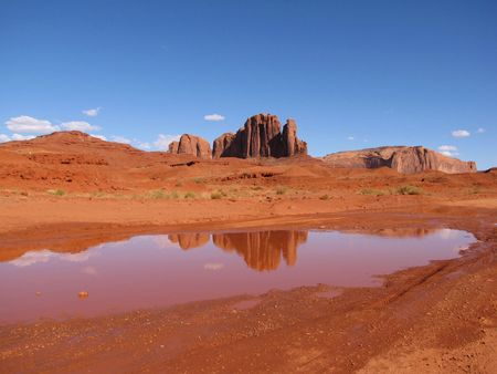 mesas: Monument valley during late afternoon after raining