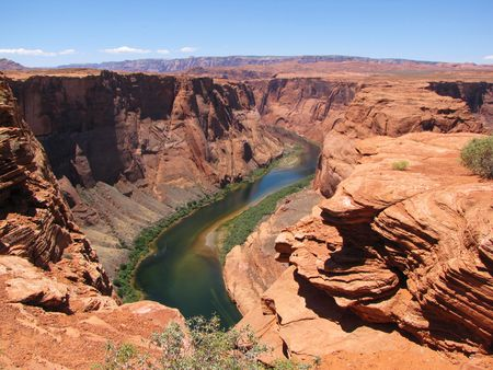 Colorado river at the beginning of Grand Canyon
