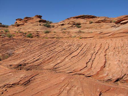 striations in the canyon. Arizona.  photo