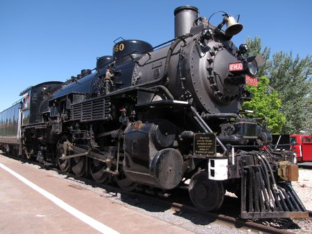 historical locomotive used in the past century at Grand Canyon National Park photo