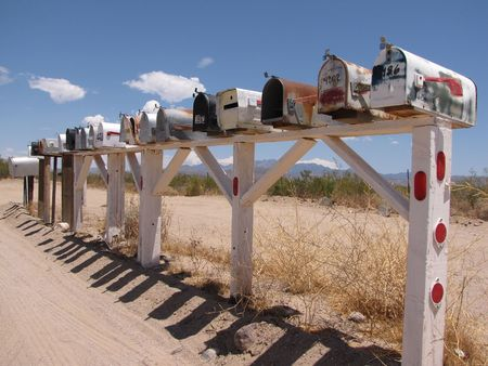 A mailbox along route 66