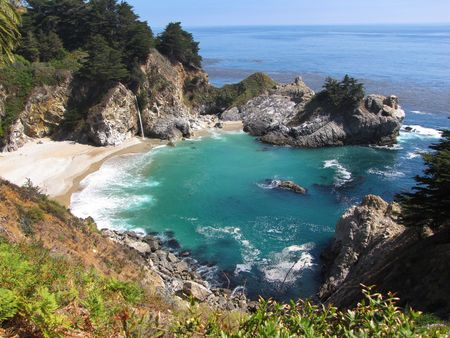 mcway: McWay Falls at Big Sur  Stock Photo