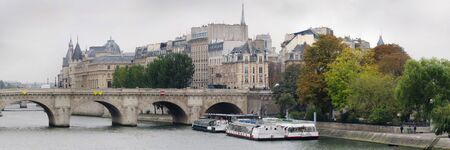 bridge and building at the historical center of Paris Stock Photo
