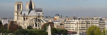 monuments at the historical center of Paris photo