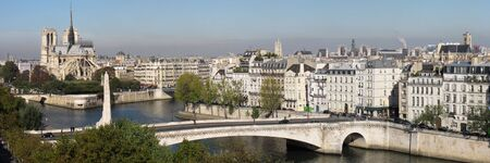 bridge and building at the historical center of Paris Stock Photo - 5906140