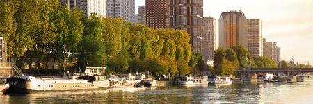 modern and new residential area ar paris along the river