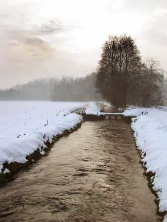 silence in countryside during winter time photo