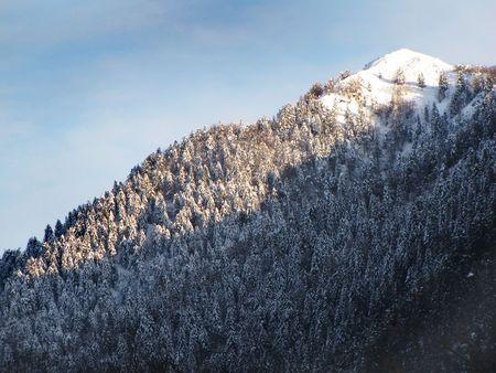 mountain peak during winter time photo