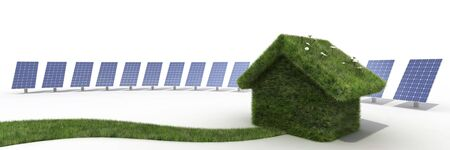 solar panel house: sustainable house