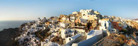 santorini panoramic view photo