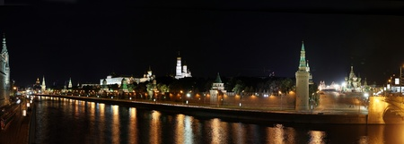 kremlin by night panoramic view Stock Photo