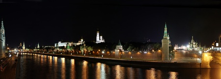 kremlin by night panoramic view  photo