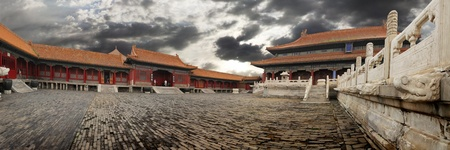 chinese temple: Forbidden city panoramic view