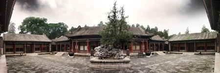 Courtyard in the summer palace Stock Photo
