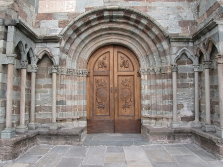 church entrance photo