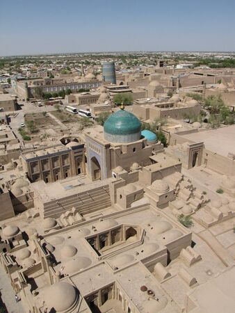 panoramic view of khiva photo