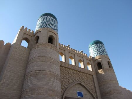 twin towers at khiva photo