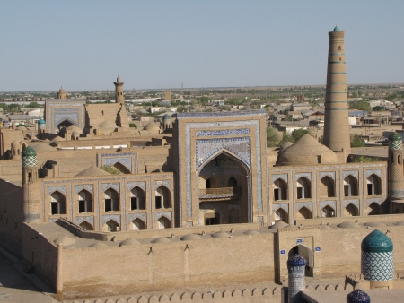 minaret at khiva