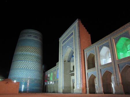 khiva by night photo