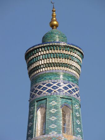 Minaret in ancient city of Khiva