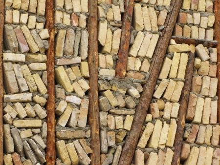 disorderly: disorderly bricks      Stock Photo