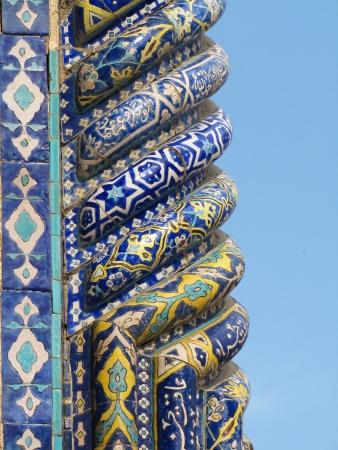 Detail der Minarette der Registan, Samarkand, Usbekistan