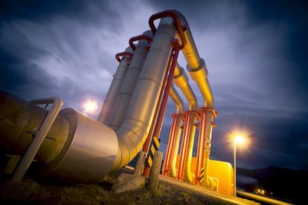 gas plant: pipeline bridge