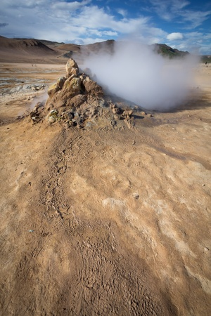 krafla geothermal activity in Iceland photo