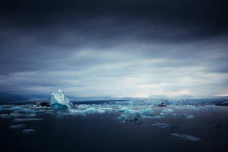 iceberg and ice at jokulsarlon lake