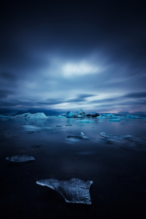 iceland: iceberg and ice at jokulsarlon lake