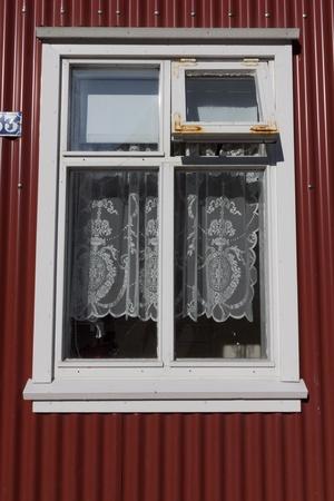 traditional window in scandinavian countries photo