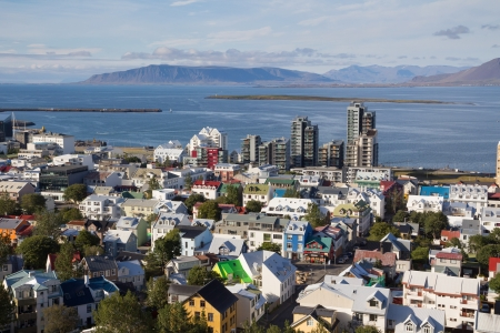 aereal: aereal overview of Reykjavik roofs